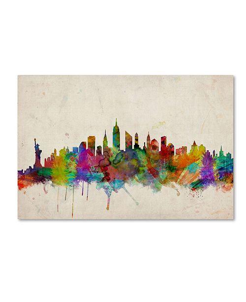 "Trademark Global Michael Tompsett 'New York Skyline' Canvas Art - 18"" x 28"""