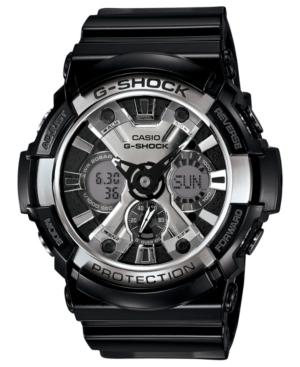 G-Shock Men's Analog-Digital Black Resin Strap Watch 53mm GA200BW-1A