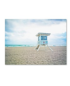 """Preston 'Florida Beach Chair 2' Canvas Art - 18"""" x 24"""""""
