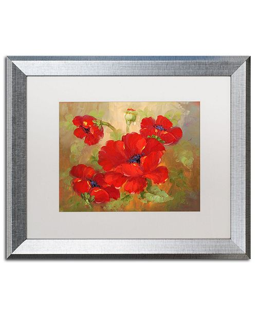 "Trademark Global Rio 'Poppies' Matted Framed Art - 16"" x 20"""