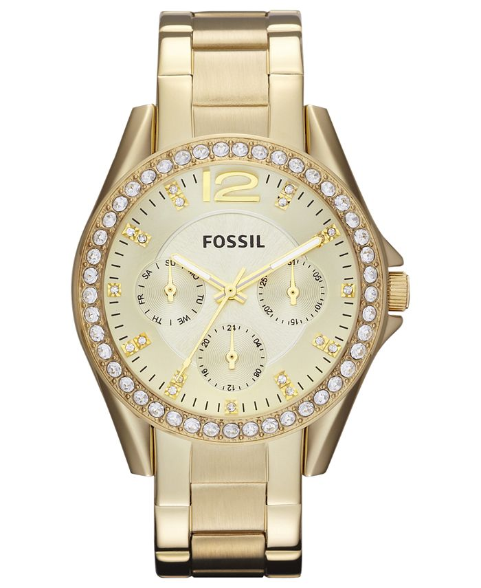 Fossil - Women's Riley Gold-Tone Stainless Steel Bracelet Watch 38mm ES3203