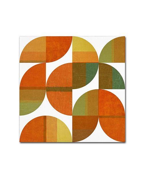"Trademark Global Michelle Calkins 'Four Suns Quartered 1.0' Canvas Art - 35"" x 35"""