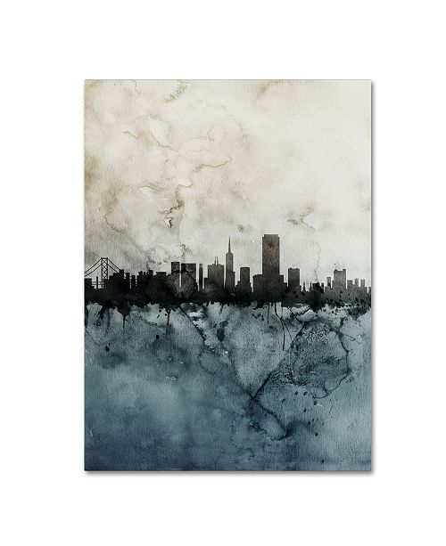 "Trademark Global Michael Tompsett 'San Francisco Skyline Tall 2' Canvas Art - 35"" x 47"""