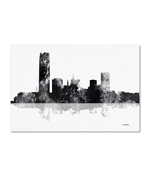 "Trademark Global Marlene Watson 'Oklahoma City Oklahoma Skyline BG-1' Canvas Art - 22"" x 32"""