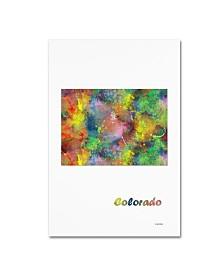 "Marlene Watson 'Colorado State Map-1' Canvas Art - 30"" x 47"""
