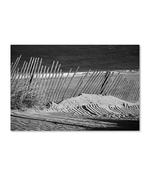 "Trademark Global PIPA Fine Art 'Sandy Beach Fence' Canvas Art - 22"" x 32"""