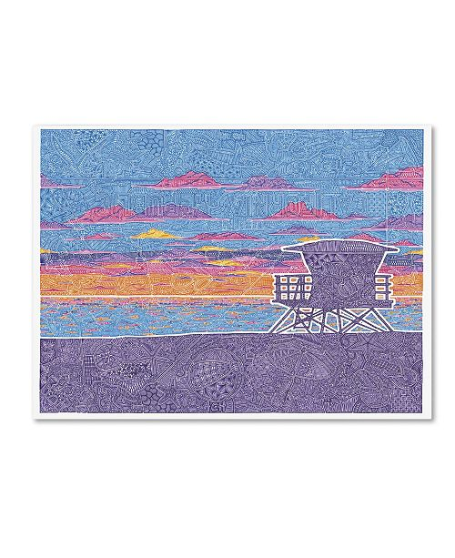 "Trademark Global Viz Art Ink 'Coastal California' Canvas Art - 24"" x 32"""