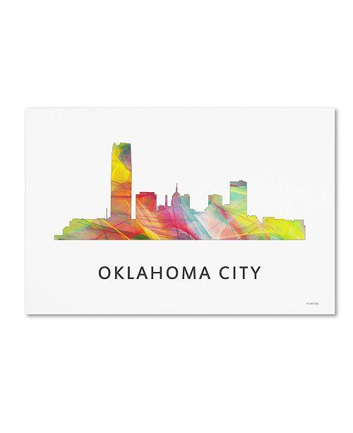 "Trademark Global Marlene Watson 'Oklahoma City Oklahoma Skyline WB-1' Canvas Art - 22"" x 32"""