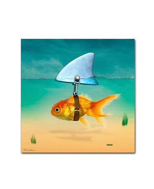"Trademark Global Mark Ashkenazi 'Gold Fish' Canvas Art - 35"" x 35"""
