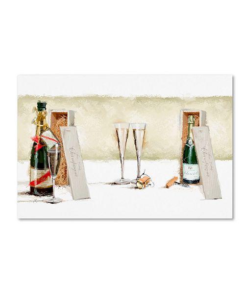 """Trademark Global The Macneil Studio 'Champagne II' Canvas Art - 22"""" x 32"""""""