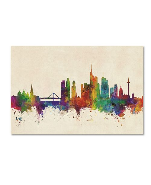"Trademark Global Michael Tompsett 'Frankfurt Germany Skyline' Canvas Art - 22"" x 32"""