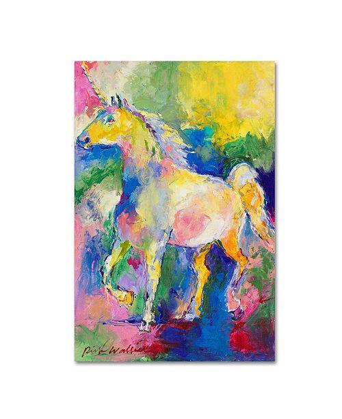"Trademark Global Richard Wallich 'Unicorn' Canvas Art - 22"" x 32"""
