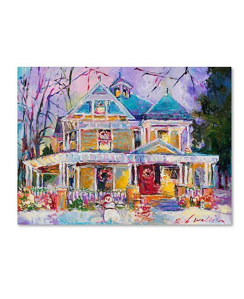 "Trademark Global Richard Wallich 'Christmas House' Canvas Art - 24"" x 32"""