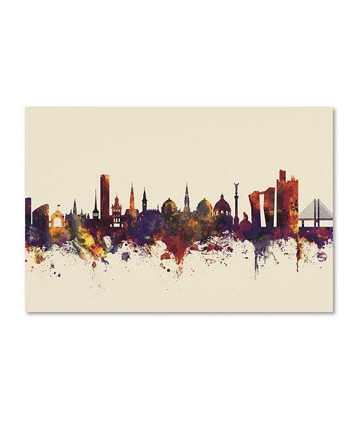 """Trademark Global Michael Tompsett 'Copenhagen Denmark Skyline V' Canvas Art - 30"""" x 47"""""""