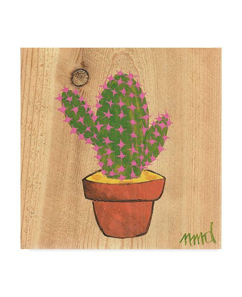 "Trademark Global Nicole Dietz 'Flowering Cactus' Canvas Art - 24"" x 24"""