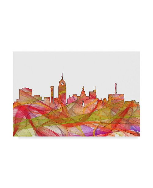 "Trademark Global Marlene Watson 'Lansing Michigan Skyline' Canvas Art - 22"" x 32"""