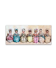 """Vintage Apple Collection 'Little Girls At Tea Time' Canvas Art - 8"""" x 19"""""""