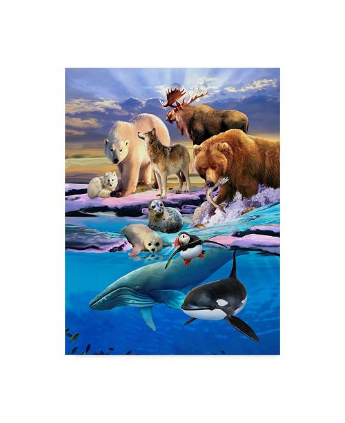 "Trademark Global Howard Robinson 'Arctic Life' Canvas Art - 24"" x 32"""