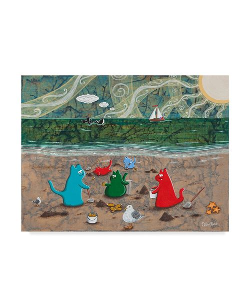 """Trademark Global Jake Hose 'Cats And Clams' Canvas Art - 24"""" x 32"""""""