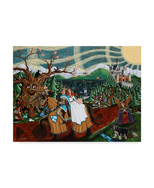 "Trademark Global Jake Hose 'Eloping' Canvas Art - 35"" x 47"""