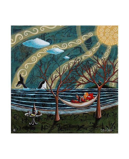 "Trademark Global Jake Hose 'Story Time' Canvas Art - 35"" x 35"""