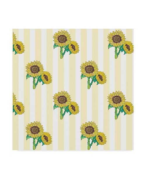 "Trademark Global Jessmessin 'Sunflowers Yellow' Canvas Art - 24"" x 24"""