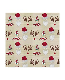"Jessmessin 'Christmas Tree Characters Faces Natural' Canvas Art - 24"" x 24"""