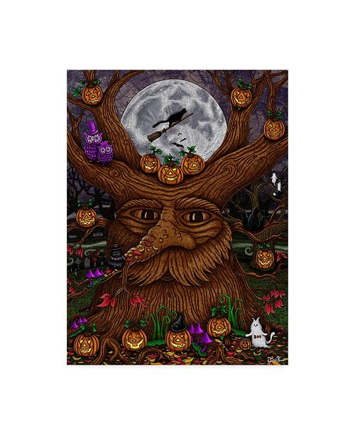"Trademark Global Jake Hose 'Halloween Tree' Canvas Art - 35"" x 47"""