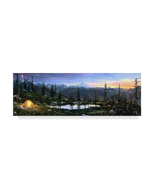 """Trademark Global Jeff Tift 'Camping Out' Canvas Art - 8"""" x 24"""""""