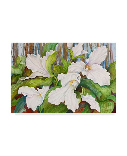 "Trademark Global Joanne Porter 'Woodland Trillium Close Up' Canvas Art - 30"" x 47"""