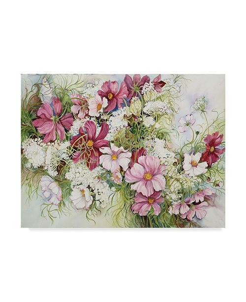 "Trademark Global Joanne Porter 'Cosmos And Queen Ann Lace' Canvas Art - 24"" x 32"""