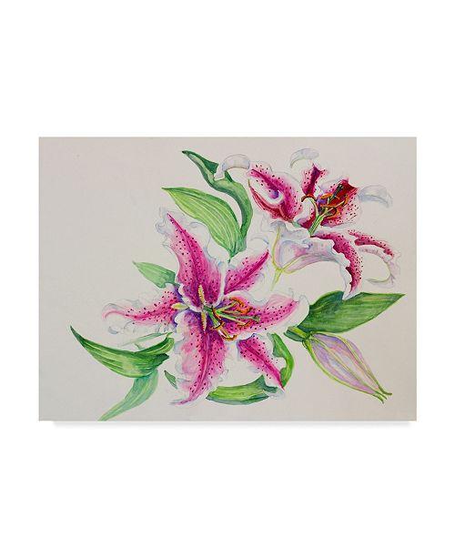 "Trademark Global Joanne Porter 'A Study Of Lilies' Canvas Art - 24"" x 32"""