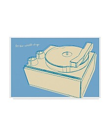 "John W. Golden 'Lunastrella Record Player' Canvas Art - 30"" x 47"""