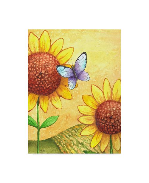 "Trademark Global Melinda Hipsher 'Sunflower And Butterfly' Canvas Art - 35"" x 47"""