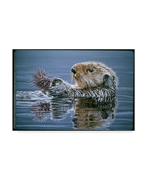 "Trademark Global Ron Parker 'Sea Otter With Urchin' Canvas Art - 30"" x 47"""