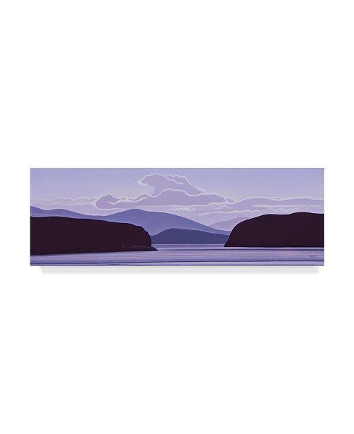 """Trademark Global Ron Parker 'Gulf Island Evening' Canvas Art - 8"""" x 24"""""""