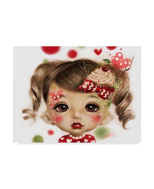 "Trademark Global Sheena Pike Art And Illustration 'Sabrina' Canvas Art - 24"" x 32"""