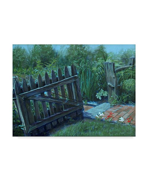 "Trademark Global Rusty Frentner 'Fence Gate' Canvas Art - 35"" x 47"""