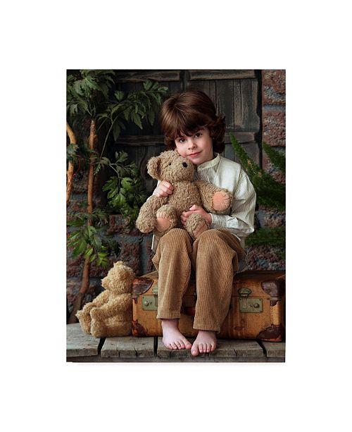 "Trademark Global Sharon Forbes 'Fuzzy Friends' Canvas Art - 35"" x 47"""