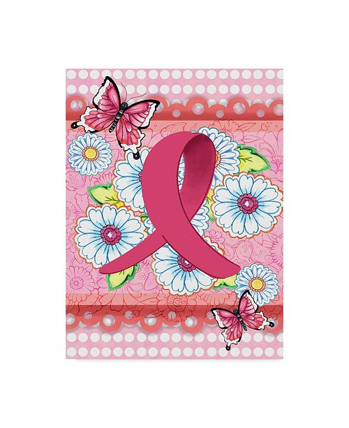 "Trademark Global Valarie Wade 'Think Pink' Canvas Art - 35"" x 47"""