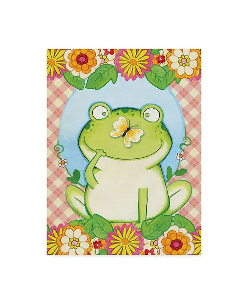 """Trademark Global Valarie Wade 'Butterfly Frog' Canvas Art - 35"""" x 47"""""""