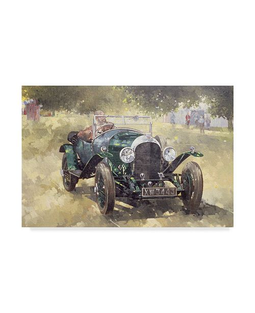 "Trademark Global Peter Miller 'The Green Bentley at Althorp' Canvas Art - 30"" x 47"""