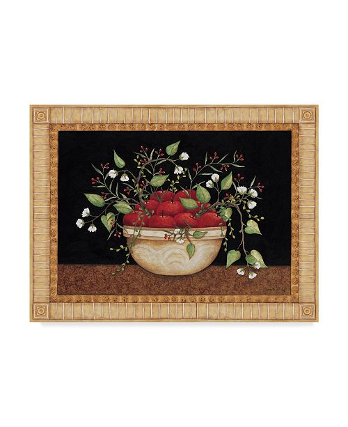 "Trademark Global Robin Betterley 'Bowl Of Apples' Canvas Art - 24"" x 18"""