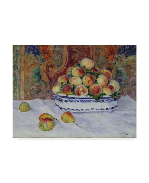 "Trademark Global Pierre Auguste Renoir 'Still Life With Peaches' Canvas Art - 24"" x 18"""