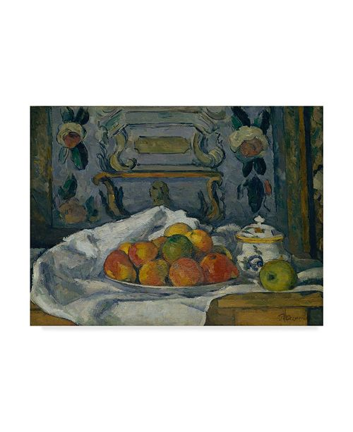 "Trademark Global Paul Cezanne 'Dish Of Apples' Canvas Art - 47"" x 35"""