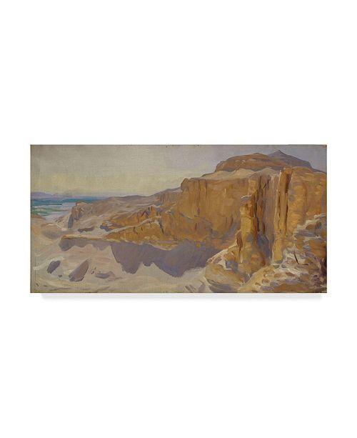 "Trademark Global John Singer Sargent 'Cliffs At Deir El Bahri Egypt' Canvas Art - 47"" x 24"""