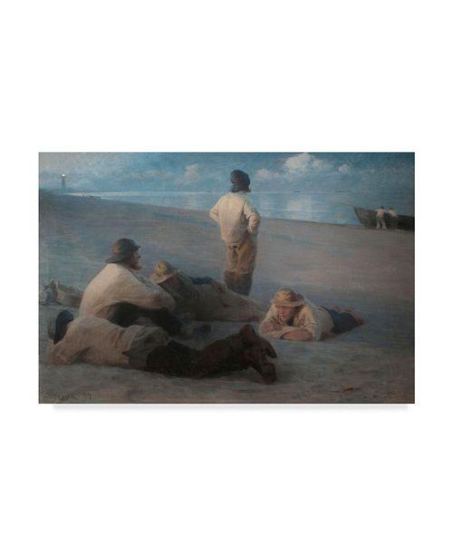 "Trademark Global Peder Severin Kroyer 'Summer Evening On The Beach' Canvas Art - 47"" x 30"""