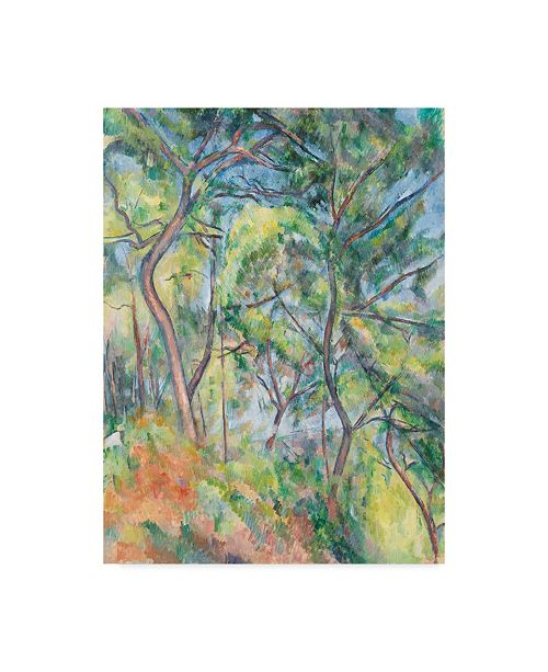 "Trademark Global Paul Cezanne 'Sousbois' Canvas Art - 47"" x 35"""