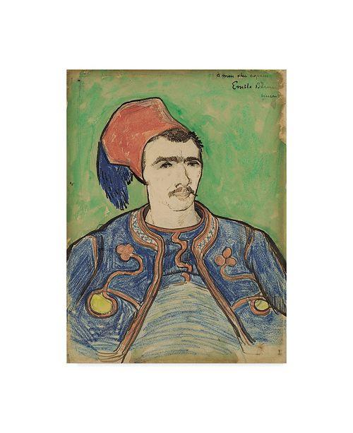 "Trademark Global Vincent Van Gogh 'The Zouave' Canvas Art - 47"" x 35"""