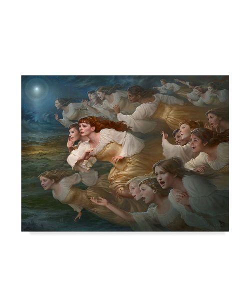"Trademark Global Howard Lyon 'The Herald Angels' Canvas Art - 47"" x 35"""